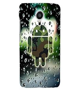 ColourCraft Cartoon in Rain Design Back Case Cover for MEIZU MX5