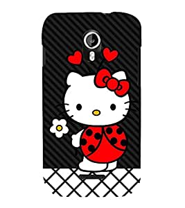Wow Cat 3D Hard Polycarbonate Designer Back Case Cover for Micromax Canvas Magnus A117