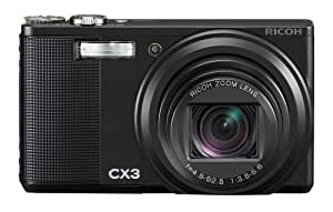 Ricoh CX3 10MP CMOS Digital Camera with 10.7x Wide Angle Optical Macro Zoom and 3.0 inch LCD (Black)