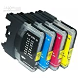 25 Pack Brother Compatible LC 61 10 -Black / 5 Cyan / 5 Magenta / 5 Yellow ink