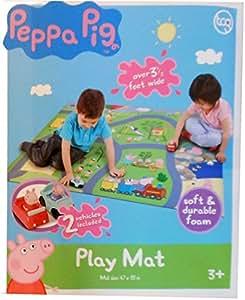 Amazon Com Peppa Pig Foam Activity Floor Play Mat With 2