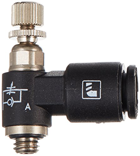 Pneumatic Flow Control Valves : Legris nylon air flow control valve degree elbow