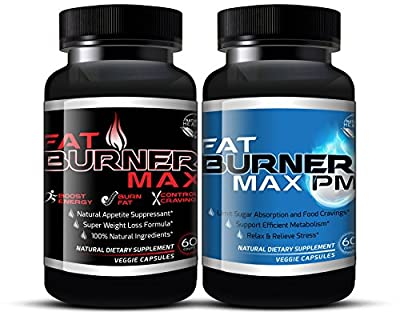 Fat Burner Max AM/PM BUNDLE For Extreme Weight Loss That Works (120 Capsules) Fat Burning Diet Pills