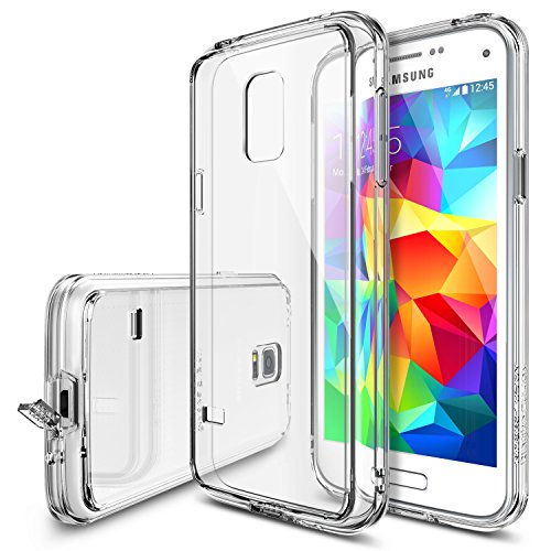 Galaxy S5 Mini Case - Ringke FUSION [All New Dust Free Cap & Drop Protection][CLEAR] Premium Clear Back Shock Absorption Bumper Hard Case w/Free HD Screen Film for Samsung Galaxy S5 Mini (Galaxy S5 Mini Case compare prices)