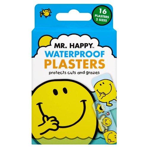Mr. Happy Waterproof Plasters - Pack of 16 Plasters