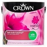 Crown Breatheasy Emulsion Paint - Silk - Flash Bulb Fuchsia - 2.5L