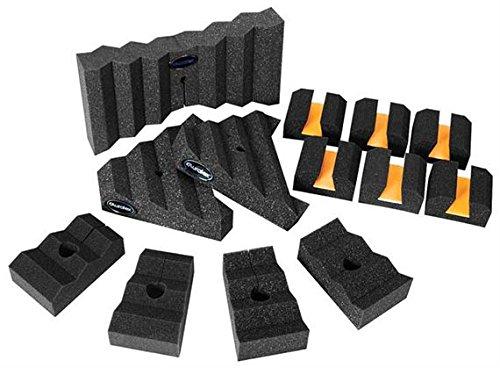 Auralex Xpander Sonic Tool Kit: 1- 14 Xpander Mic Baffle; 2- 8 Tri-Xpander Mic Baffles; 4- 6 Trap-Xpander Mic Baffles; 6-Platfeet Mic Stand Floaters front-558243