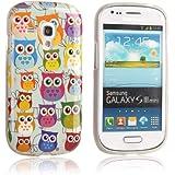 tinxi� Design Silikon Schutzh�lle f�r Samsung Galaxy S3 mini i8190 H�lle TPU Silikon R�ckschale Schutz H�lle Silicon Case mit bunte Eule Owl Muster
