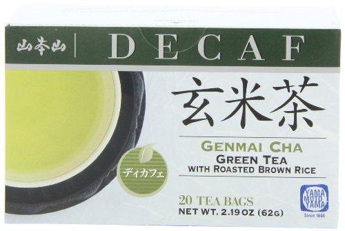 Yamamotoyama Decaffeinated Roasted Brown Rice Tea Genmai Cha, 2.19-Ounce Boxes (Pack Of 6)