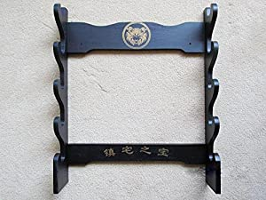 Martial Arts Weapons Stand - Sword Stand 8 Tier Wall Mounted - PRE ORDER