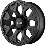 "Helo HE878 Satin Black Wheel (17x9""/6x139.7mm, -12mm offset)"