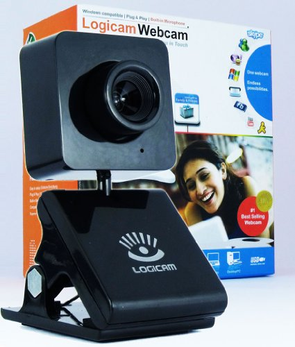 Logicam Webcam for PC and Laptop, 3.0 Mega Pixels, Excellent Video quality, Built-in Microphone, Plug & Play webcam, No driver or Installation needed, Windows Compatible