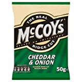 The Real McCoy's Ridge Cut Cheddar & Onion Crisps 50g Case of 30