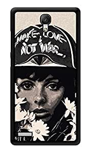 "Humor Gang Make Love Not War Printed Designer Mobile Back Cover For ""Xiaomi Redmi Note - Xiaomi Redmi Note 4G"" (3D, Glossy, Premium Quality Snap On Case)"