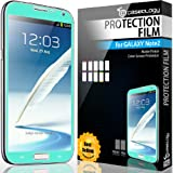 SQ1 [Mercury] Matte Finish Color Screen Protector Compatible with Samsung Galaxy Note 2 (Turquoise / Mint)
