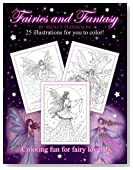 Fairies and Fantasy by Molly Harrison: Coloring for Adults and Older Fairy Lovers!
