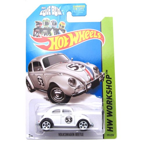 Hot Wheels 2014, Volkswagen Beetle. Herbie The Love Bug. HW Workshop 191/250. 1:64 Scale. from Mattel