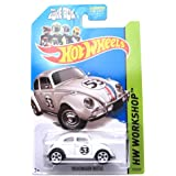 Hot Wheels 2014, Volkswagen Beetle. Herbie The Love Bug. HW Workshop 191/250. 1:64 Scale.