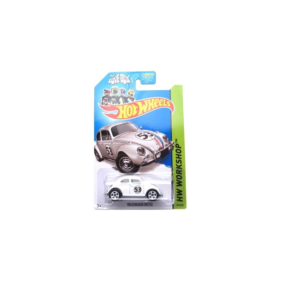 Hot Wheels 2014, Volkswagen Beetle. Herbie The Love Bug. HW Workshop 191/250. 164 Scale.