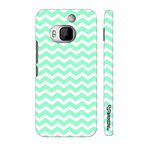 Htc One M9 Plus CHEVRON MINT designer mobile hard shell case by Enthopia