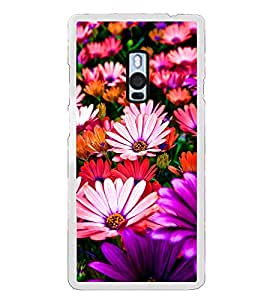 Multi Colour Flowers 2D Hard Polycarbonate Designer Back Case Cover for OnePlus 2 :: OnePlus Two :: One +2