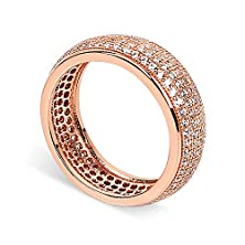 buy J.Rosée Fashion Women'S Rose Gold Plated Cubic Zirconia Engagement Wedding Ring, 7