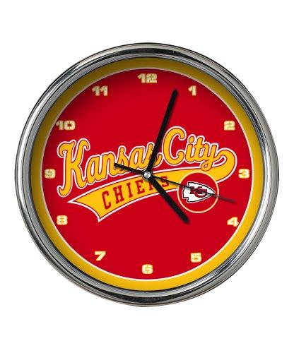 Kansas City Chiefs Chrome Clock