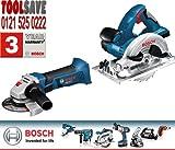 Bosch GKS GWS Dynamic Series Circular Saw and Angle Grinder 18V Li-Ion Cordless