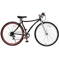 クロスバイク 700c 自転車 変形フレーム CCR7006CT ブラック Piedi ディープリム