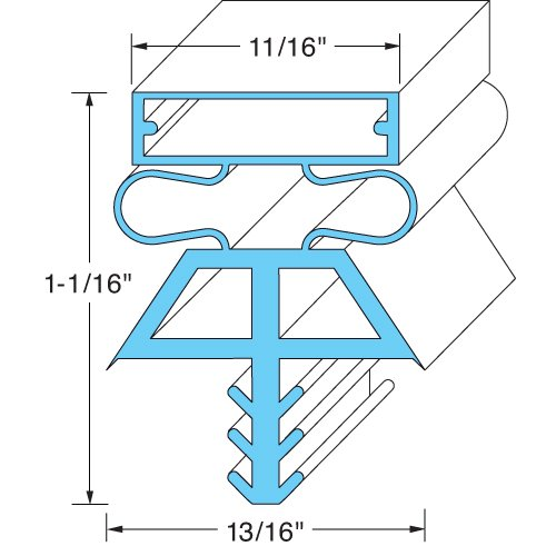 """Kolpak Door Gasket - Lh, 36-1/2"""" X 77-1/2"""" 22519-1075 front-634947"""