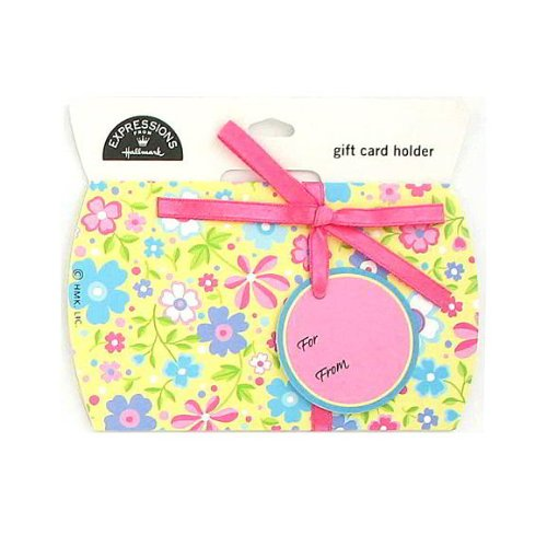 72 Floral gift card holder with