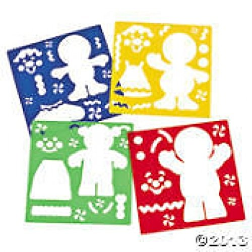 Gingerbread Stencils - Stationery & Office Supplies (Oriental Trading Company Stencils compare prices)