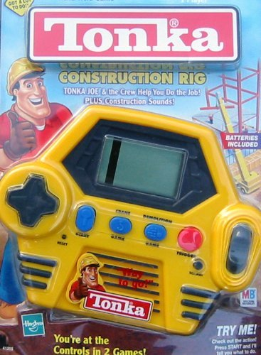 tonka construction rig electronic hand held game