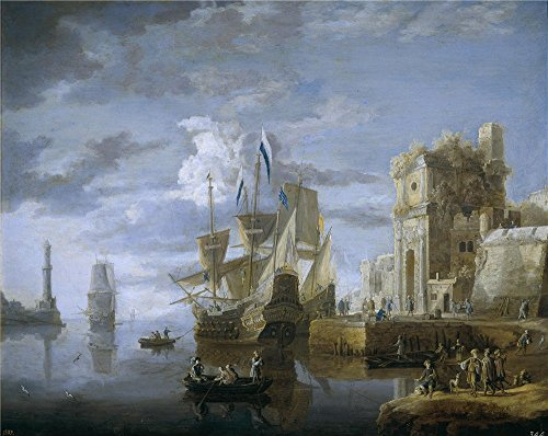 Oil Painting 'Peeters Jan Un Puerto De Mar 17 Century ' Printing On Polyster Canvas , 16 X 20 Inch / 41 X 51 Cm ,the Best Game Room Artwork And Home Gallery Art And Gifts Is This High Definition Art Decorative Canvas Prints