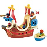 ELC HAPPYLAND PIRATE BOAT SHIP AND PIRATES FIGURES SET TOYS - NEW
