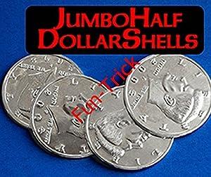 Jumbo Half Dollar Shells 3 + 1 Set / Magic Tricks/Magic Props/Coin & Money Tricks