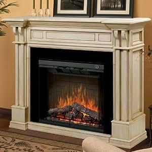 Dimplex Kendal Electric Fireplace Parchment Mantel Home Kitchen