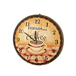 Your Heart's Delight Mmm Coffee Wall Clock, 11-1/4-Inch