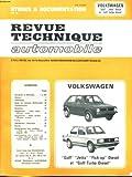 """echange, troc COLLECTIF - Etudes et documentation de la revue technique automobile - volkswagen """"golf"""" """"jetta"""" diesel et """"golf turbo diesel"""""""