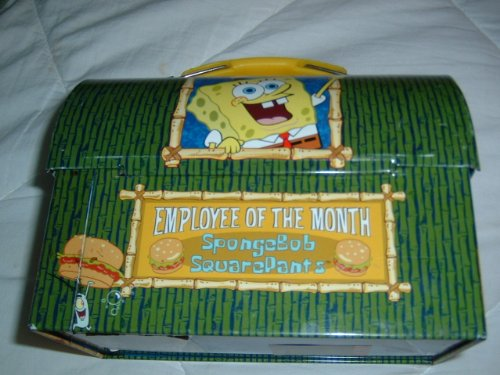 Spongebob Squarepants Tin Dome Lunch Box (Employee of the Month) - 1