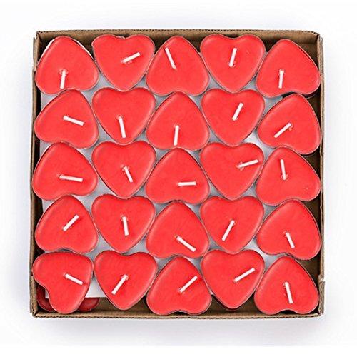 ailiebhaus 50er teelichter set romantische hochzeit herz kerzen rot ailiebhaus. Black Bedroom Furniture Sets. Home Design Ideas