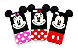 Disney Genuine INMOLD Jelly Case Mickey Red, Minni Red, Minnie Pink for Galaxy S5 Galaxy Note3 iPhone 5 / 5S (iPhone 5S, Mickey Red)