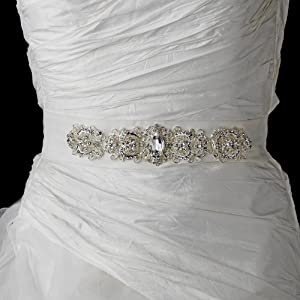 Vintage Rhinestone Crystal Wedding Sash Bridal Belt