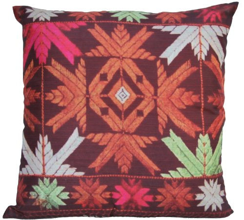 Souvnear Holiday Gifts - Southwest Decor Pillowcase - 18 X 18 Inch Square Throw Pillow Cover From India With Hidden Zippers - Cushion Covers For Your Couch, Sofa, Ottoman, Rocking Chairs And Beds In An Indian Phulkari Print - Unique, Large Decorative Cush front-87743
