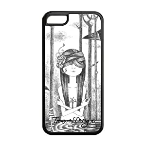 Treasure Design Original Japanese Style Sketch Princess For Christmas IPHONE 5C Best PC+Rubber Cover Case