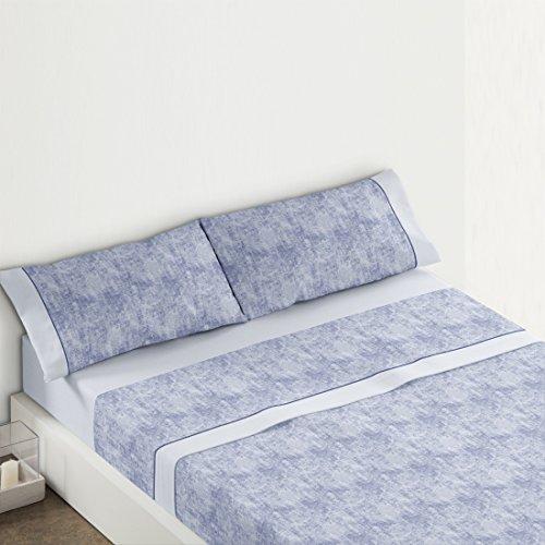 Burrito blanco-Jeu de draps atelier Maison 393, couleur BLEU cama 90x190/200 cm