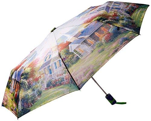 po-campo-rain-street-flower-art-umbrella-orange
