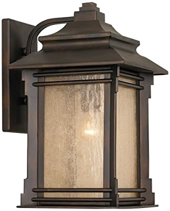 franklin iron works hickory point 15 high outdoor light wall. Black Bedroom Furniture Sets. Home Design Ideas
