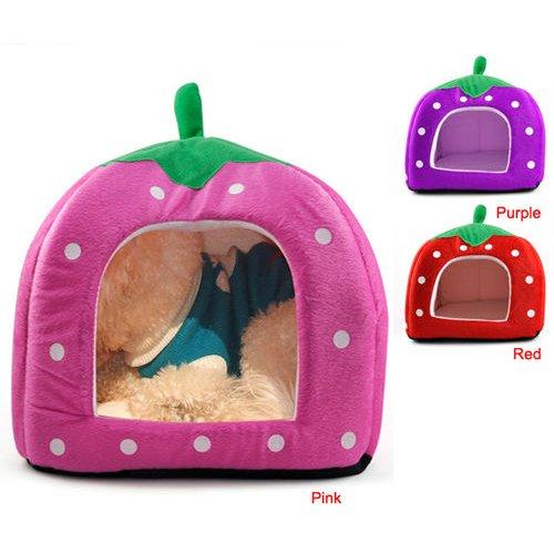 SODIALR-Soft-Esponja-Fresa-los-Mascotas-Cama-Cojin-Casa-de-la-perrera-perrito-Basket-Pillow-Pink-S