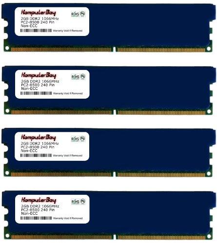 Komputerbay 8GB (4X 2GB) DDR2 PC2-8500 1066MHZ DIMM 8 GB - comes with Heat Spreaders ( 5-7-7-25 at 1.8V)